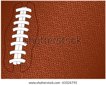 vector of football textured background with laces - stock vector