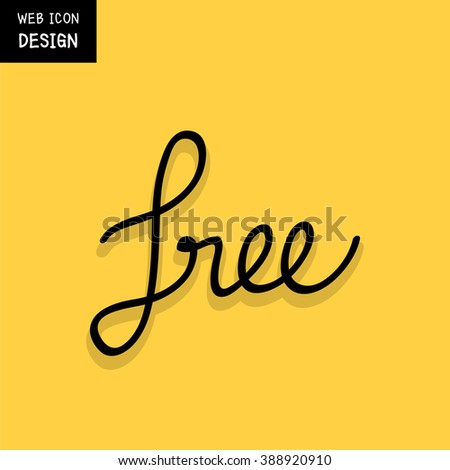 Vector of free tag, free sign, free label. Illustration EPS10 great for any use. - stock vector