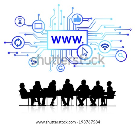 Vector of global business connection. - stock vector