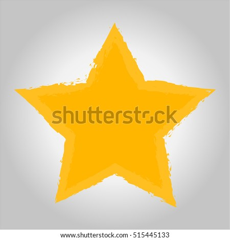 Vector of Gold Star icon on gray background