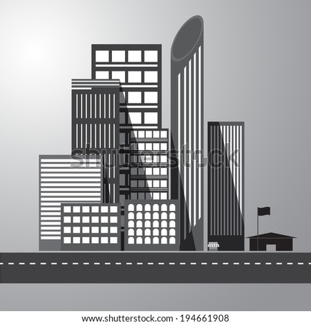 vector of graphical urban building - stock vector