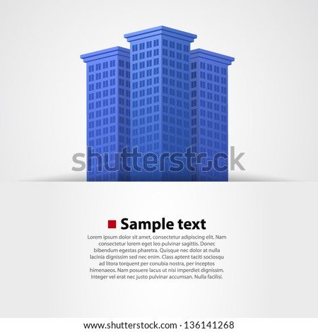 vector of graphical urban cityscape - stock vector