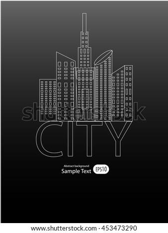 vector of graphical urban cityscape - stock vector