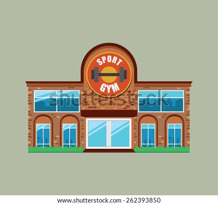 Vector of Gym Building .sport club ,fitness,for design - stock vector