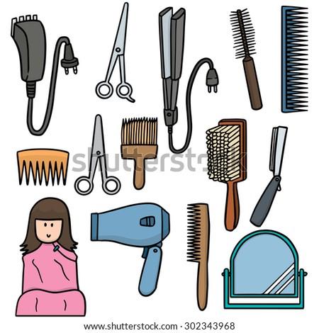 vector of hair dressing set - stock vector