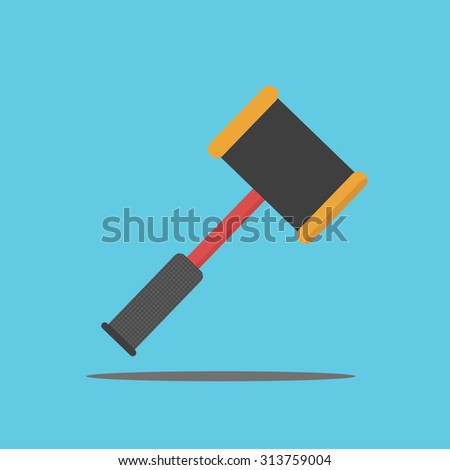 Vector of  hammer - stock vector