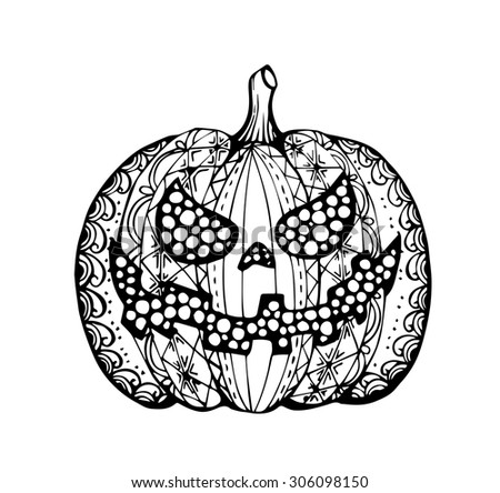 Thanksgiving Decoration Pumpkin Coloring Page