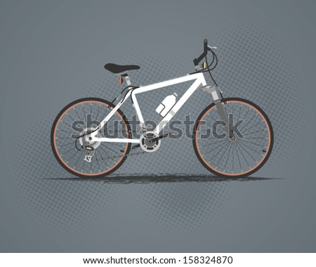 vector of hardtail mountain bike