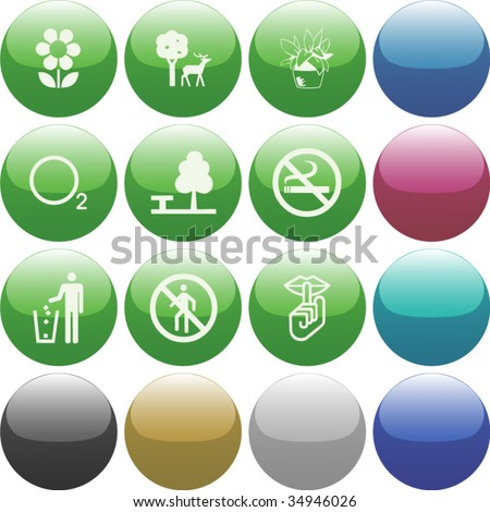 Vector of Icon set, also provided in other colors - stock vector