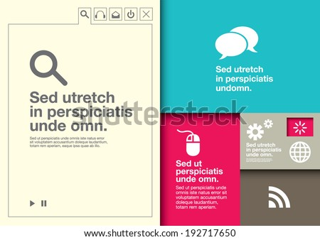 Vector of info-graphic about technology - stock vector