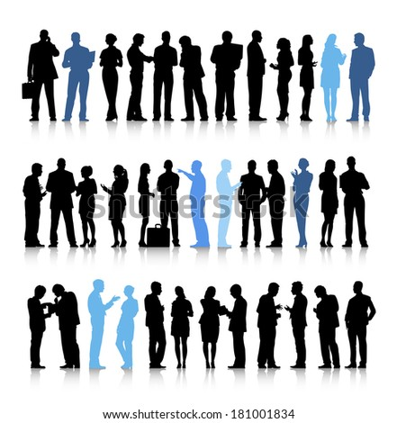 Vector of Interactive Business People - stock vector