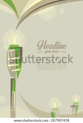 Vector of islamic festival greetings - stock vector