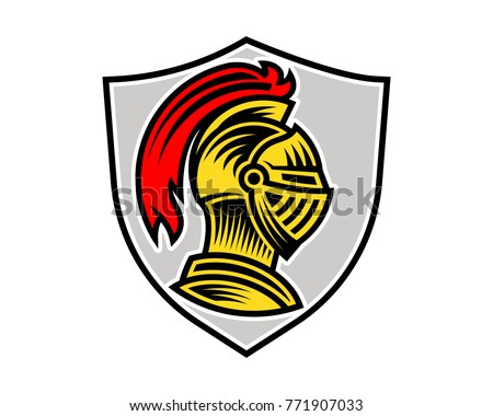 vector knight helmet could be use stock vector 771907033 shutterstock rh shutterstock com blue knight head logo knight head logo