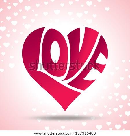 vector of love heart - stock vector