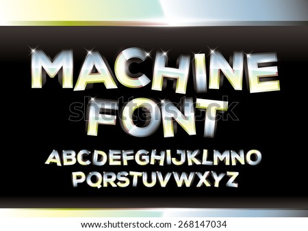 Vector of metallic alphabets - stock vector