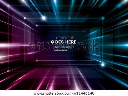 Vector of modern abstract futuristic background