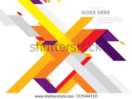 Vector of modern abstract geometric background