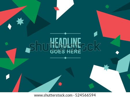 Vector of modern abstract pattern and background