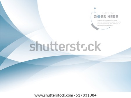 Vector of modern abstract wave element and background