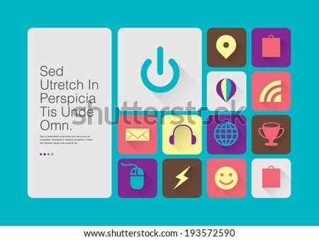 Vector of modern icon and symbols - stock vector