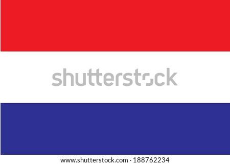 Vector of Netherlands Flag - stock vector