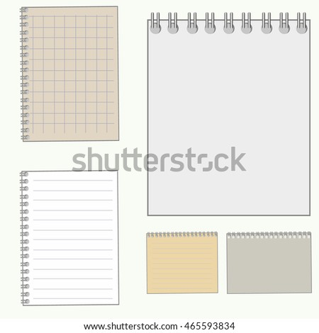 Vector of notepad set numbers symbol or icon