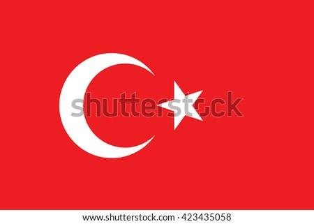 Vector of official flag of Turkey country, turkish flag illustration. Turkey icon flag. Turkey vector flag. National flag of Turkey in vector. - stock vector