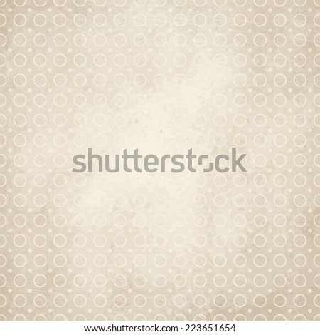 vector of old vintage paper background with circles - stock vector