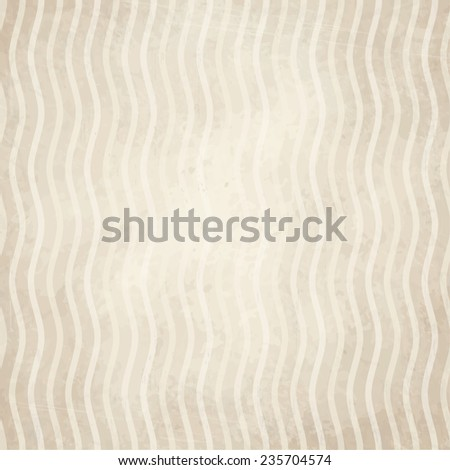 vector of old vintage paper background with waves - stock vector