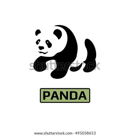 Vector Panda Bear Icon Business Icon Stock Vector 2018 495038653