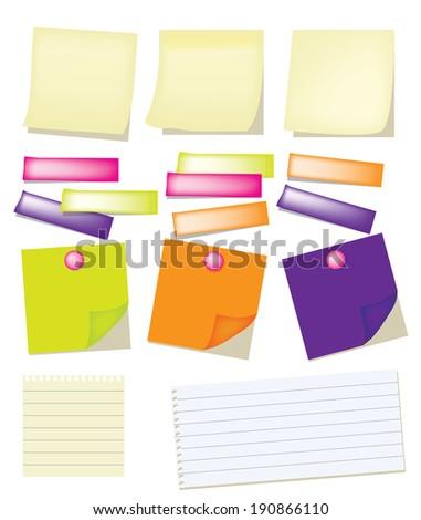 Vector of Paper note - stock vector