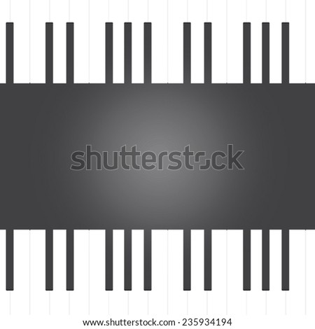 Vector of piano key background