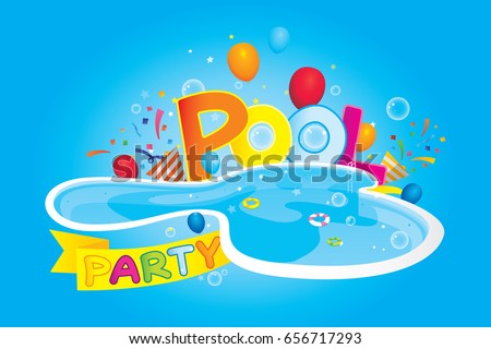 Cartoon images of pool party for Free clipart swimming pool party