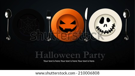 Vector of Poster, banner for Halloween Party Night - stock vector