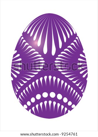 Vector of purple egg on white background