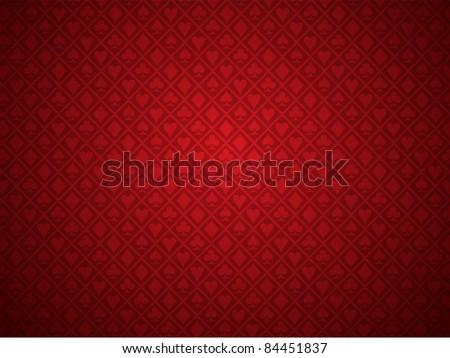 Vector of red poker background - stock vector