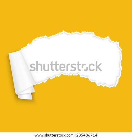 vector of ripped open old vintage paper - stock vector