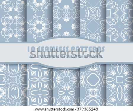 Vector of Seamless Patterns set.  - stock vector