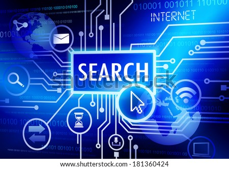 Vector of Search SEO System - stock vector