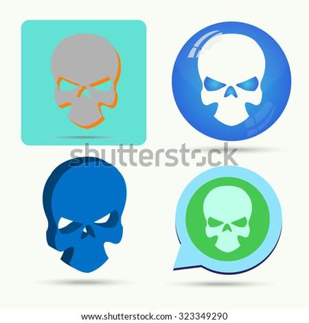Vector of skull symbol or icon - stock vector