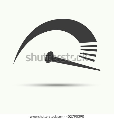 Vector of speedometer symbol or icon - stock vector