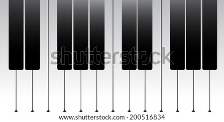 Vector of Standard piano key - stock vector