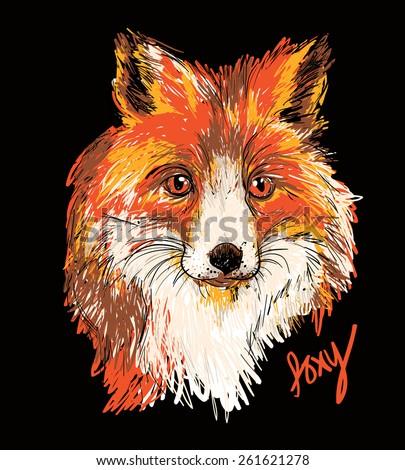 Vector of stylish fox illustration - stock vector