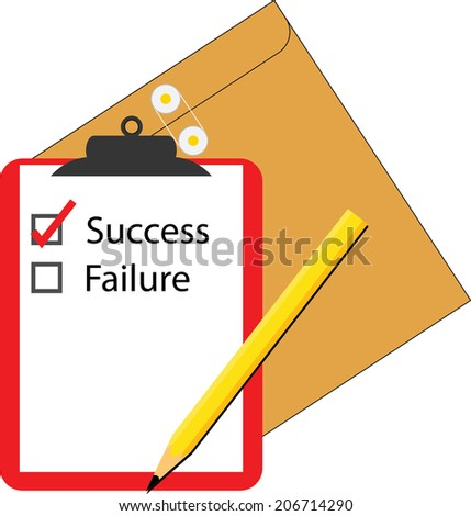 vector of success survey written on a notepad paper - stock vector