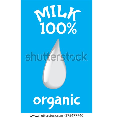 Vector of templates packaging milk, label, banner, poster, etc