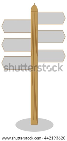 Vector of the guidepost icon/The guidepost icon
