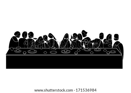 Vector of the last supper - stock vector