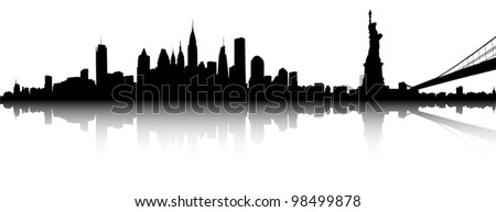 Vector of the New York skyline - stock vector