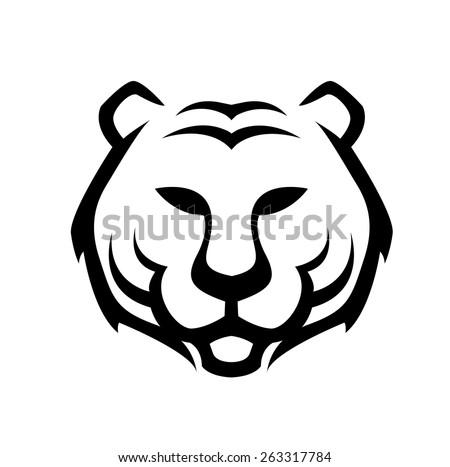 vector of tiger head outline illustration