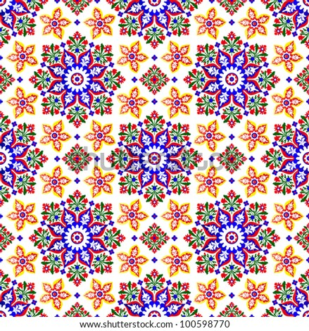 Vector of traditional Islamic Pattern on white - stock vector